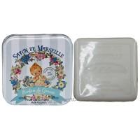 Boîte carrée des Jolies Bébés et son savon au Lait d'ânesse
