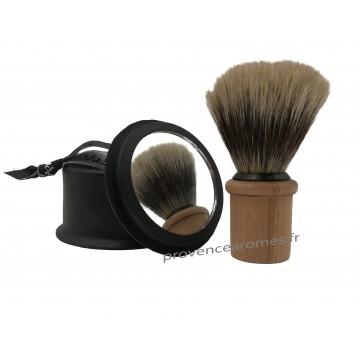 Soin du barbier Tadé Coffret d'accessoires et savon de rasage + support à blaireau
