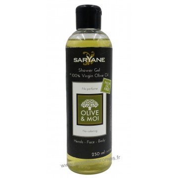 Gel Douche 100% Huile d'Olive vierge collection Olive et Moi Saryane