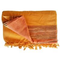 Grande Tenture Kérala Plaid couvre-lit Orange mandarine
