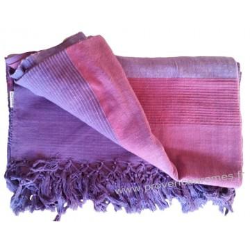 grande tenture krala plaid couvre lit violet amthyste - Couvre Lit Violet
