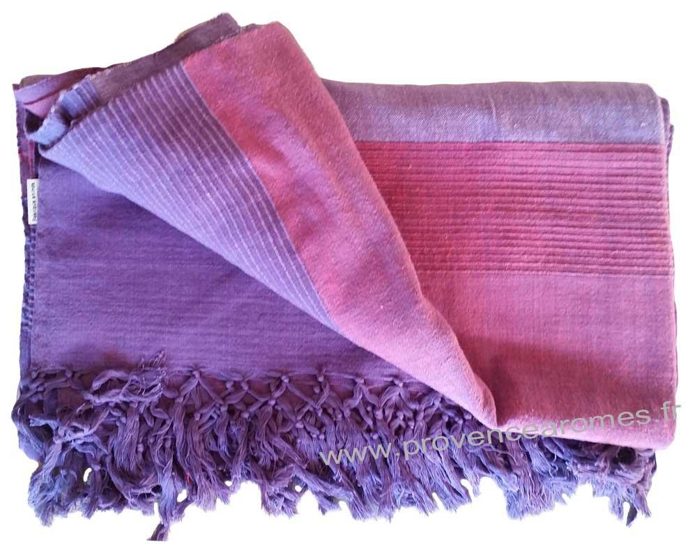 grande tenture krala plaid couvre lit violet amthyste provence armes tendance sud - Dessus De Lit Violet