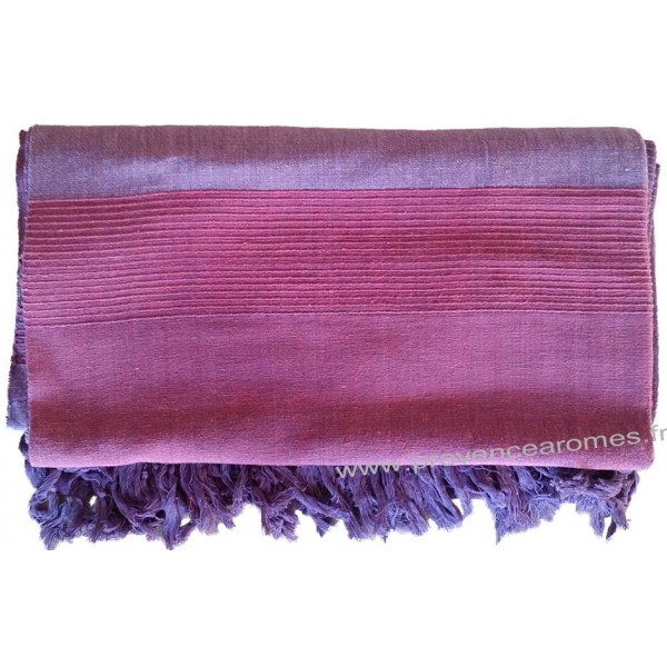 grande tenture k rala plaid couvre lit violet am thyste provence ar mes tendance sud. Black Bedroom Furniture Sets. Home Design Ideas
