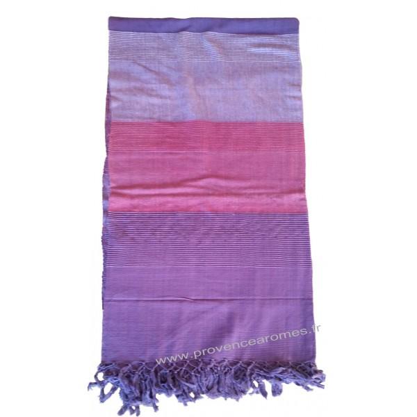 grande tenture k rala plaid couvre lit violet am thyste. Black Bedroom Furniture Sets. Home Design Ideas