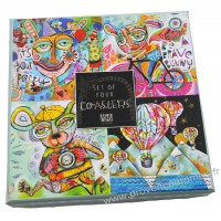 Coffret 4 Dessous de verre animaux IT'S YOUR PARTY MONTGOLFIERE ALLEN DESIGNS
