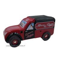 Tirelire fourgonnette 2CV Citroën Rouge/Noire Maison de Qualité déco rétro vintage