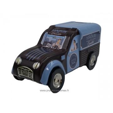 Tirelire fourgonnette 2CV Citroën Bleu  Marron Maison de Qualité déco rétro  vintage 94aebfa1e57a