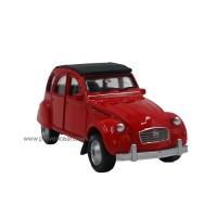 Petite 2CV Citroën voiture Rouge déco rétro vintage