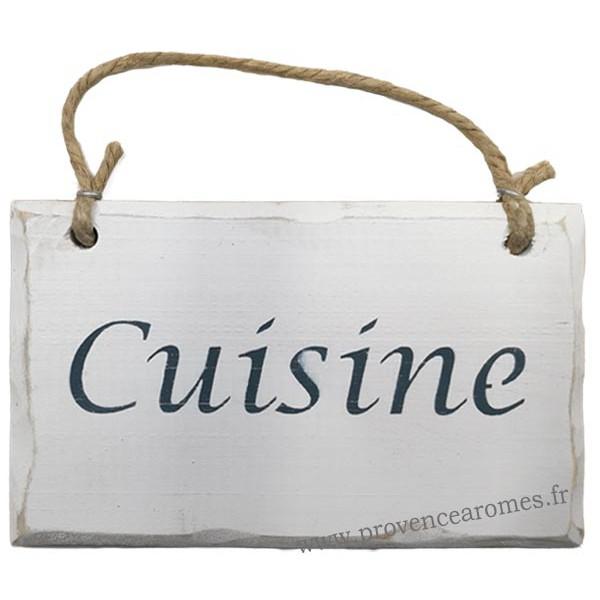 Plaque en bois cuisine fond blanc provence ar mes for Plaque bois cuisine