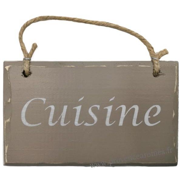 Plaque en bois cuisine fond taupe provence ar mes for Plaque bois cuisine