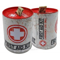 Tirelire métal First Aid Kit rétro vintage collection