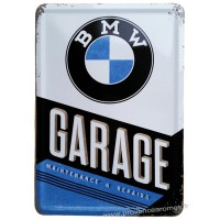 Plaque métal BMW Garage Maintenance and repairs carte postale rétro vintage collection