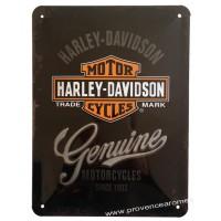 Plaque métal Harley Davidson Motorcycles Genuine 20 x15 cm déco rétro vintage