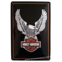 Plaque métal Harley Davidson Motor Cycles Aigle 30 x 20 cm déco rétro vintage