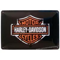 Plaque métal Harley Davidson motorcycles 30 x 20 cm déco rétro vintage