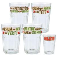 Coffret de 4 verres MOJITO Natives déco rétro vintage