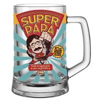 Chope à bière SUPER PAPA Natives déco rétro vintage