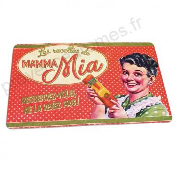 "Set de table "" MAMMA MIA "" Natives déco rétro vintage"