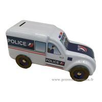 Tirelire fourgonnette 2CV Citroën POLICE déco rétro vintage