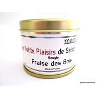 Bougie trés parfumée Fraises des bois à la cire de soja naturelle