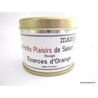 Bougie trés parfumée écorce d'orange à la cire de soja naturelle
