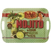 Grand Plateau rectangle MOJITO Natives déco rétro vintage