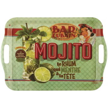 Grand Plateau bambou rectangle MOJITO Natives déco rétro vintage