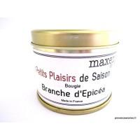 Bougie trés parfumée Branche d'épicéa / Pin maritime à la cire de soja naturelle
