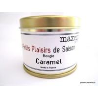 Bougie trés parfumée Caramel à la cire de soja naturelle