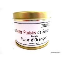 Bougie trés parfumée Fleur d'oranger à la cire de soja naturelle