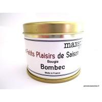 """Bougie trés parfumée """" Bombec """" à la cire de soja naturelle"""