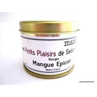 Bougie trés parfumée Mangue épicée à la cire de soja naturelle