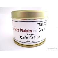 Bougie trés parfumée Café crème à la cire de soja naturelle