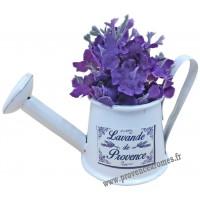 """Magnet ARROSOIR Blanc """" Lavande de Provence """" PLAISIRS DE FRANCE"""