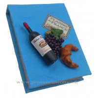Magnet CARNET BLEU Vin, Raisin, Croissant PLAISIRS DE FRANCE