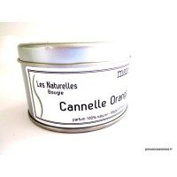 "Bougie trés parfumée "" Cannelle orange "" à la cire de soja naturelle"
