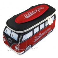 Trousse de toilette vw combi Volkswagen noir rouge PM Brisa rétro vintage collection