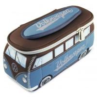 Trousse de toilette vw combi Volkswagen bleu et marron PM Brisa rétro vintage collection