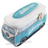 Trousse de toilette vw combi Volkswagen turquoise et blanc PM Brisa rétro vintage collection