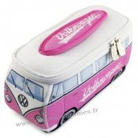 Trousse de toilette vw combi Volkswagen rose et blanc PM Brisa rétro vintage collection