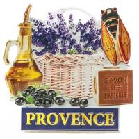 Magnet PROVENCE Savon de Marseille Huile Olive Cigale Lavande