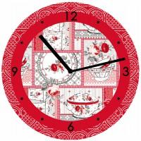 Horloge CUISINE FLEURIE 40 cm déco rétro Charme