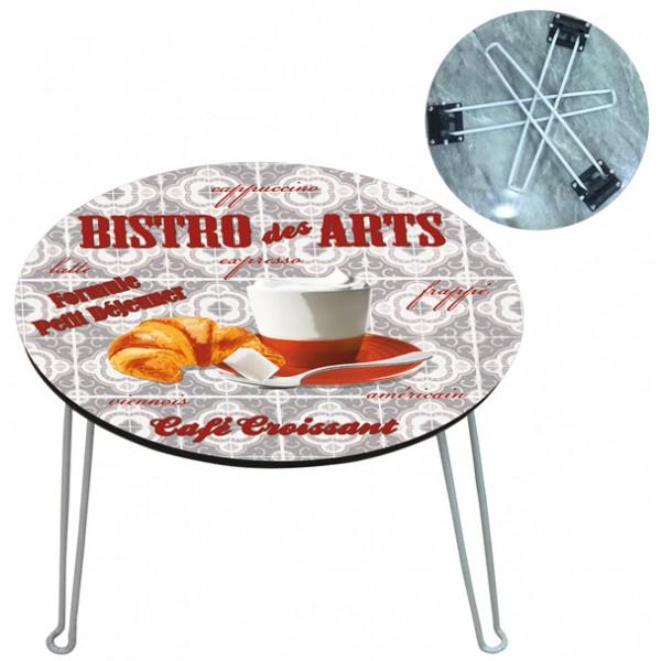 Petite table basse pliante bistro des arts provence ar mes tendance sud - Petite table basse pliante ...