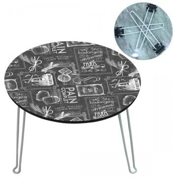 petite table basse pliante ardoise boulangerie artisanale paris provence ar mes tendance sud. Black Bedroom Furniture Sets. Home Design Ideas