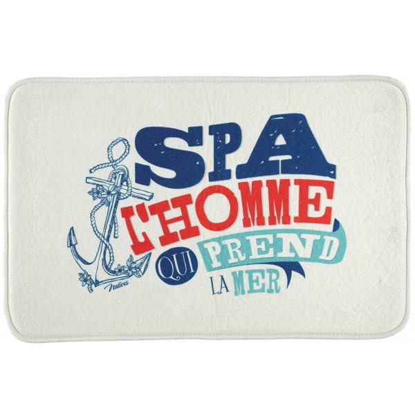 Tapis salle de bain spa l 39 homme qui prend la mer natives for Tapis de cuisine hemisphere sud
