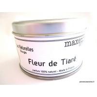 Bougie trés parfumée fleur de tiaré à la cire de soja naturelle