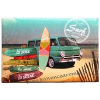 Magnet plaque SURF sur la Vague déco rétro vintage