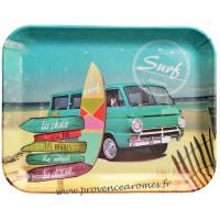 Petit plateau SURF sur la Vague déco rétro vintage