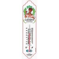 Thermomètre métal RHUM CLÉMENT déco publicité rétro vintage