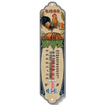 Thermomètre métal BIERE GALLIA déco publicité rétro vintage